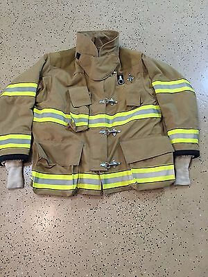 Globe Firefighter Suits: Fire Turnout Coat Bunker Gear 46/32 03/2005