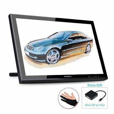 "19"" Graphic Drawing Monitor Huion GT190 Display Tablet+DP+Glove+Screen Protector"