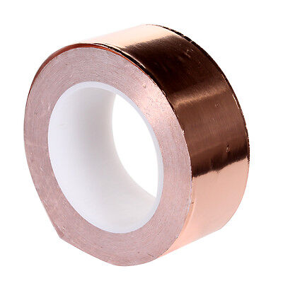 50mm x 30m Guitar Pickup Shield Screening Copper Foil Tape Conductive Adhesive