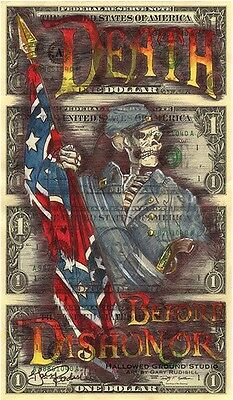 Hobo Dollar Currency Art Uncut Money Signed Open Edition Print