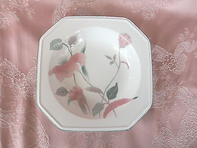 MIKASA   SILK FLOWERS   Rimmed  SOUP Coupe   BOWL    # F 3003