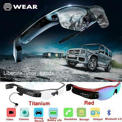 Smart Bluetooth Video Glasses Camera Headset Hands-free Recorder For Android IOS