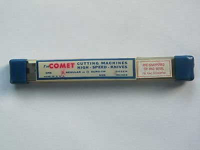 """COMET/GURY Straight Cutting Machine Knives 12 High-Speed-Knives 6"""" USA MADE"""