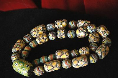 Old Handmade & Hand Fired Beaded Necklace …beautiful collection piece