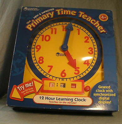 Primary Time Teacher Clock Learning Educational Manipulative for ages 4+ NIB