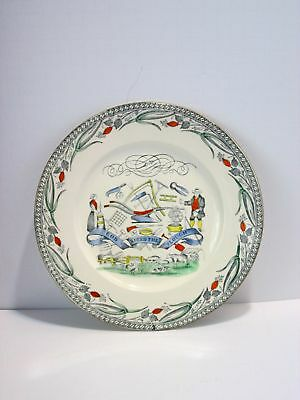 """Burgess & Leigh Farmers Arms God Speed The Plough 9"""" Luncheon Plate"""