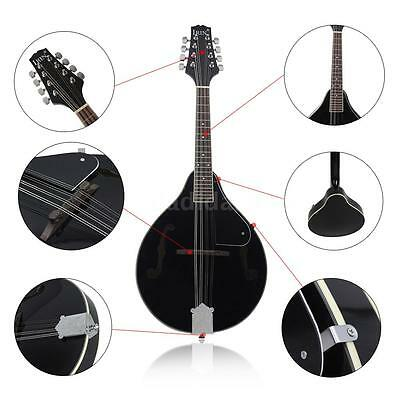 Mandolin Basswood Body Rosewood Fingerboard Steel String A-style Black M0O8