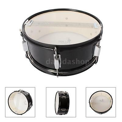 Professional Snare Drum Head 14 Inch with Drumstick Drum Key Strap Black M9R7