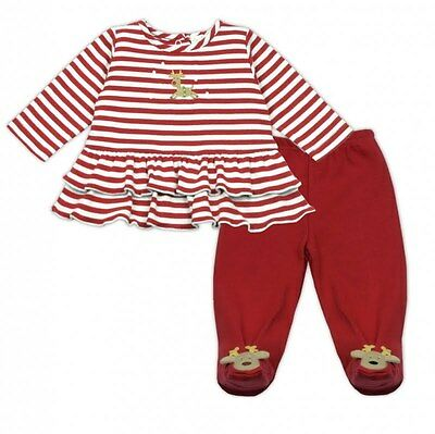 Nwt Le Top Reindeer Games Girls Christmas 2 Piece Outfit 3 Months