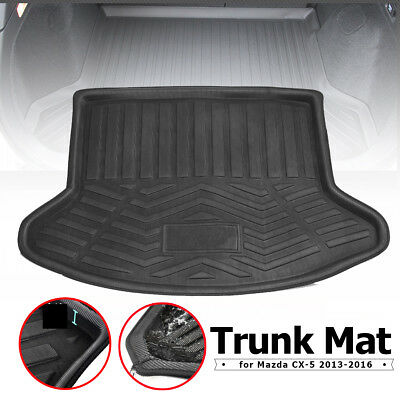 3D Black Rear Trunk Cargo Mat Boot Liner Tray For Mazda Car CX-5 2013-2016 Parts