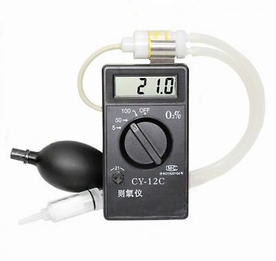 New CY-12C Oxygen Concentration Tester Meter Detector Oxygen Analyzer Tester