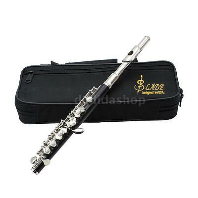 New Silver Cupronickel C Piccolo with Case Cloth Lubricant For School Band J6E3