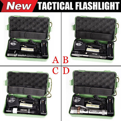 6000LM X800 Zoomable XML T6 LED 18650 Tactical Military Flashlight Torch Kits UK