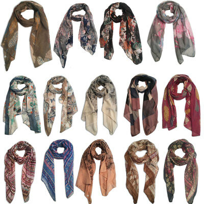 Women Flower Lace Bohemia Butterfly Soft Scarf  Large Wrap Scarves Shawl
