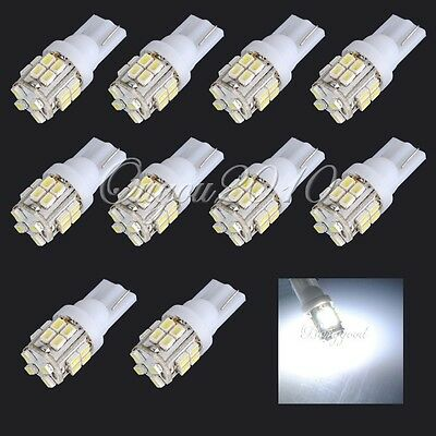 10x T10 501 W5W Veilleuse 20 LED 1210 SMD Blanc Xenon Voiture Ampoule Lampe 12V