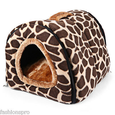 Washable Pet House Nest Soft Removable Cushion Colormix  for Small Dog- S