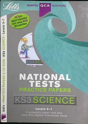 KS3 National Tests Practice Papers SCIENCE Exam Test 5-7 / DVD/CD Complete Set