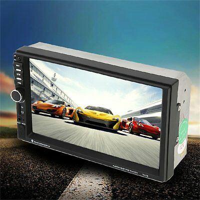 2 Din Universal Bluetooth 7 Inch Touch Screen Aux Input Car DVD FM/MP5 Player NR
