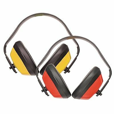 Portwest - Classic Ear Protector/muff/defender - Red/yellow - Soft - Free P&p
