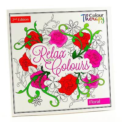 Adult Colouring Therapy Anti-Stress Adult Colouring Book Relax Owl 60 - Floral