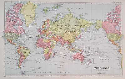 Map of World. (Mercator)  c1920. Bacon Atlas.