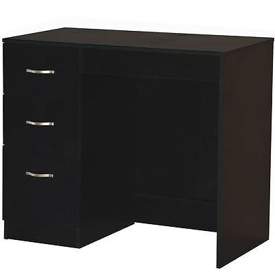 RIANO 3 DRAWER DRESSING TABLE Black Bedroom Vanity Makeup Desk Furniture