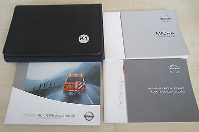 NISSAN MICRA K12 2003-2005 Owners Manual Handbook & SERVICE BOOK w/ Wallet Pack