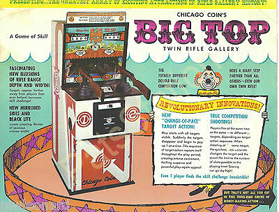 BIG TOP - Chicago Coins 1973 Twin Rifle Arcade Game Flyer