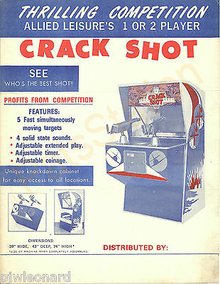 CRACK SHOT - Allied Leisures 1972 Twin Rifle Game Flyer