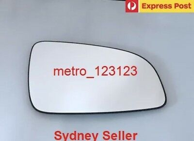 Right Driver Side Holden Astra (Ah) 2005 - 2009 Mirror Glass With Plate
