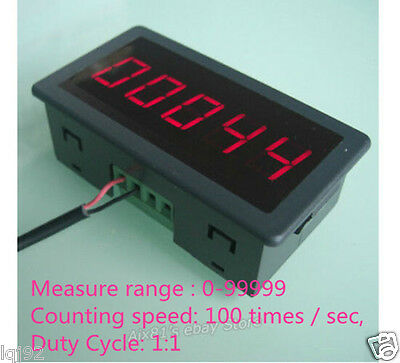 "DC12V-24V 0-99999 0.56"" Red LED Digital Display Punch Counter Electronic Counter"