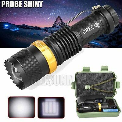 New Tactical 4000LM  Q5 AA/14500 3 Modes ZOOMABLE LED Flashlight Torch Lamp