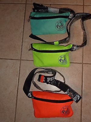 Victorias Secret Pink Zip Fanny Pack With Koozie Beach Pouch Bag Waist Nwt