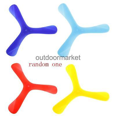 1pc Plastic Tri-Wing Boomerang Frisbee Toys Kids Outdoor Throw Catch Game