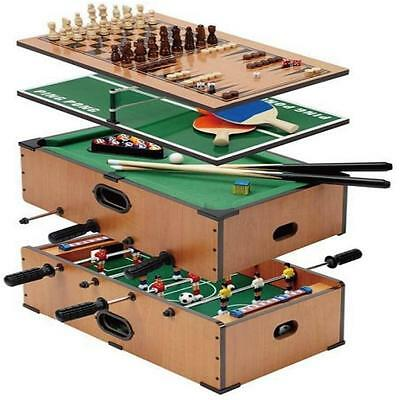 Deluxe Table Game Set 5 In 1 Football Tennis Backgammon Chess Pool Snooker Toy