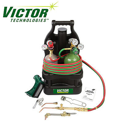 0384-0948 Victor Portable Tote Torch Kit Set Cutting Outfit With Cylinders