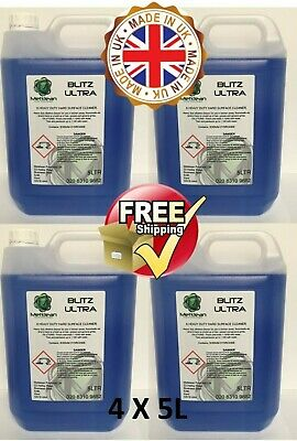 Blitz Heavy Duty Hard Surface Cleaner And Degreaser Floors Walls Kitchens 4X5L