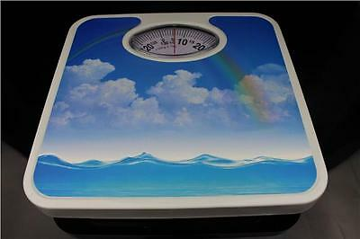 Rectangle Contemporary BlueSky 130KG Bathroom Analogue Weighing Scale New