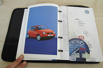 VW VOLKSWAGEN LUPO 1998-2005 Owners Manual Handbook & SERVICE BOOK Wallet Pack