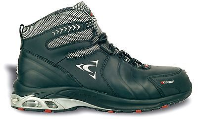 Cofra Phantom Leather Steel Tapcap Mens Safety Boots with Midsole Black