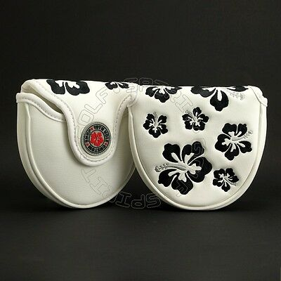 Hibiscus Head Cover for TaylorMade Mallet Putter, Ghost Spider Si, Corza, New