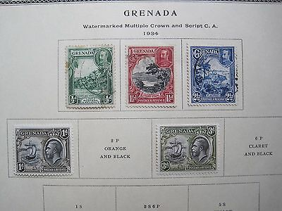 GRENADA  : 5 STAMPS 1934 (Used & MH)