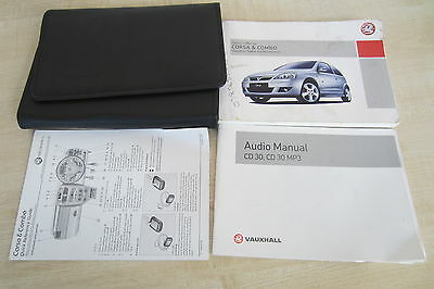 VAUXHALL CORSA & COMBO VAN C 2001-2006 Owners Manual Handbook & with Wallet Pack