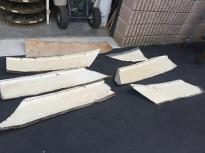 "16'+ antique victorian tin ceiling tile edge trim sections - 12"" wide"