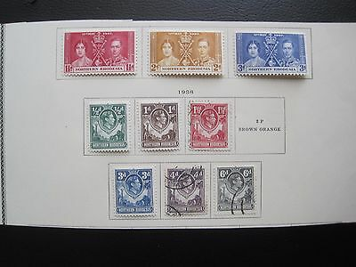 NORTHERN RHODESIA  : 9  STAMPS 1937-38  (MH & Used)