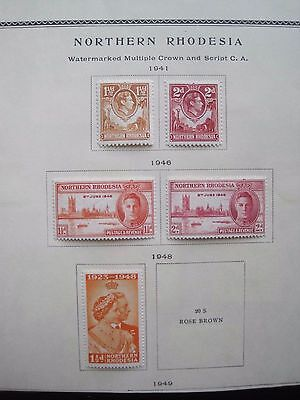 Northern Rhodesia  : 5  Stamps 1941-48  (Mh)