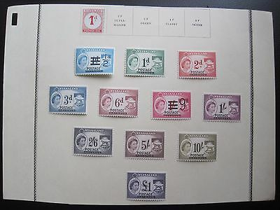 NYASALAND   : 11 Stamps & 1 Postage Due   (MH)