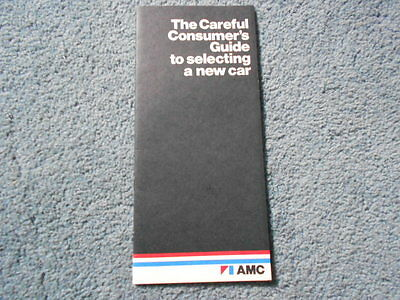 1974 AMC THE CAREFUL CONSUMER's GUIDE to SELECTING A NEW CAR PRICES SPECS OEM