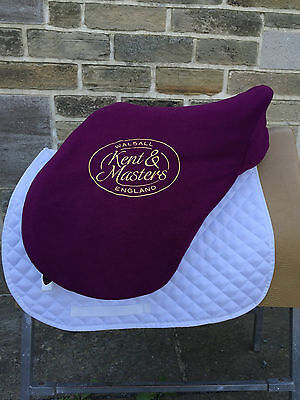 NEW Kent & Masters Saddle Fleece Saddle Protector Cover With Embroidered Logo