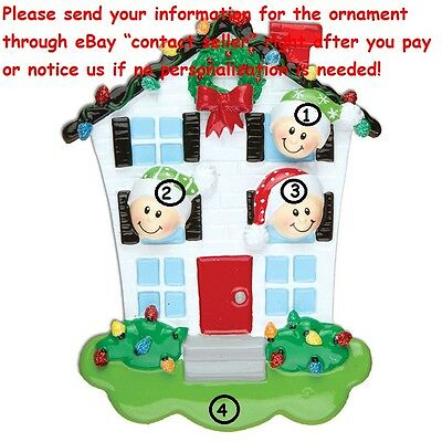 Our Grandchildren Grandkids Family Of 3 New Home Personalized Christmas Ornament